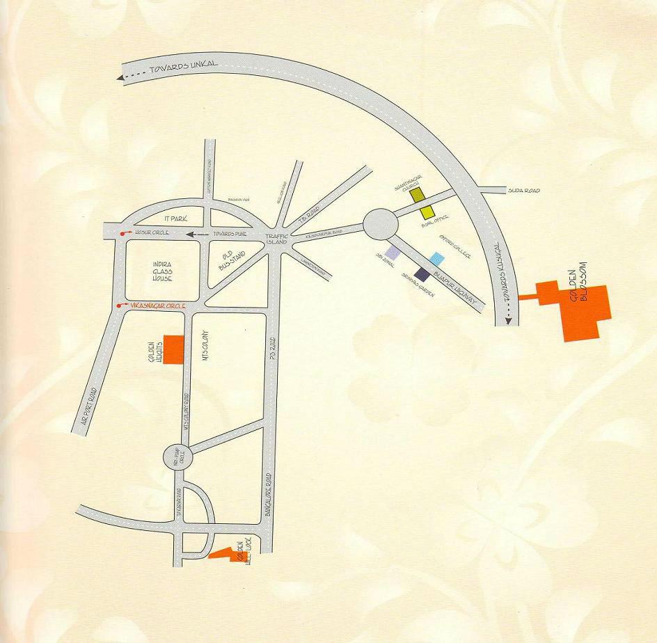 plots_in_hubli_golden_blossom_routemap_drawn1