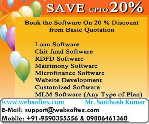 Loan Software, Chitfund Software, RDFD Software, MLM Software