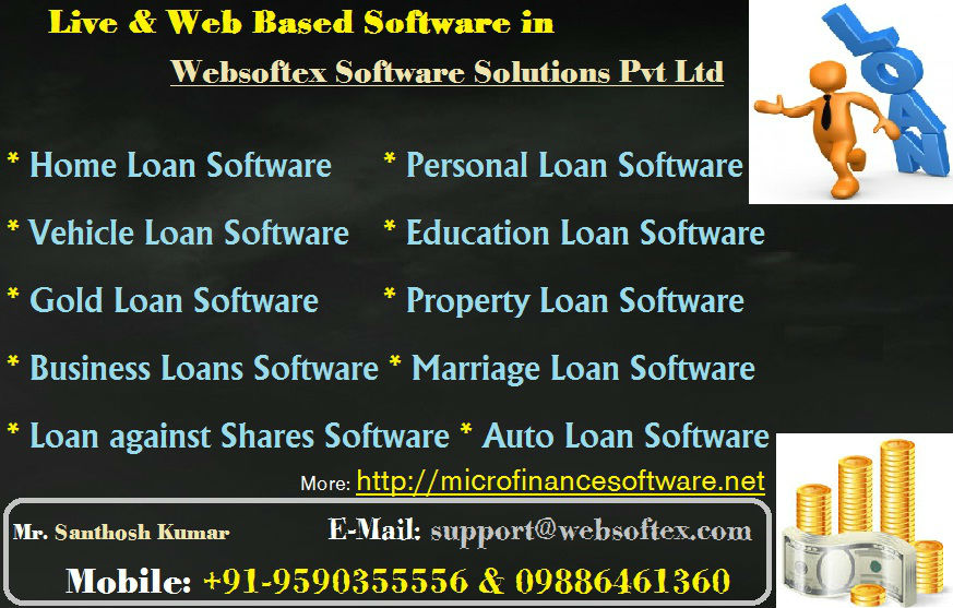 RD FD Software, Co-Operative Banking Software, Education Loan Software, Gold Loan Software, Property Loan Software