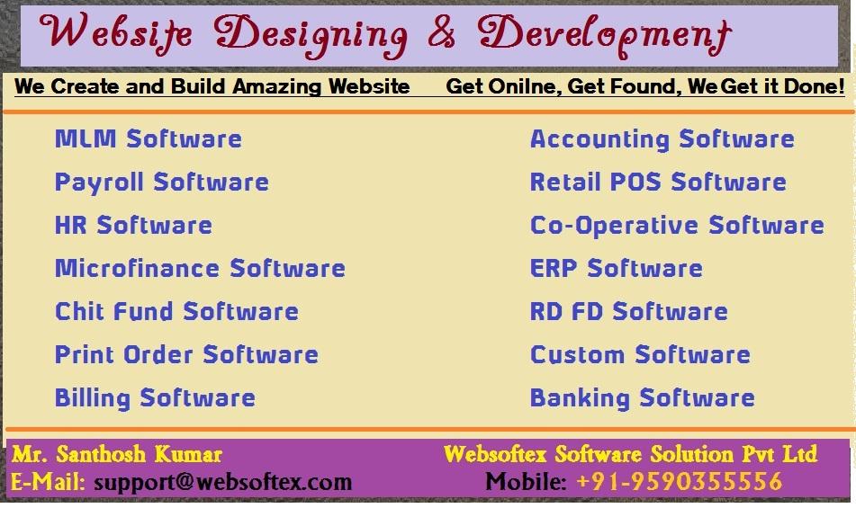 Chit Fund Software, Microfinance Software, MLM Software, HR Software, Printer Software, NBFC Software, MLM Generation Plan